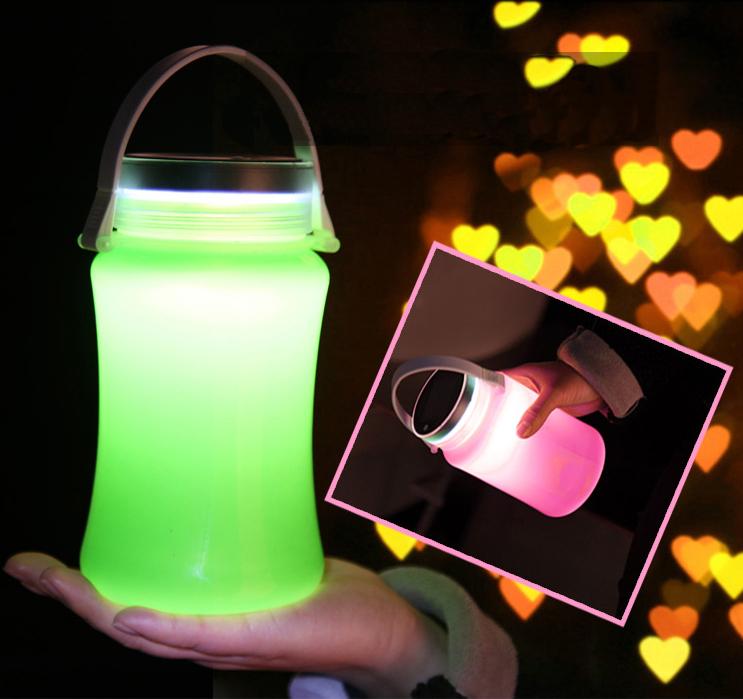 Solar lantern in hand